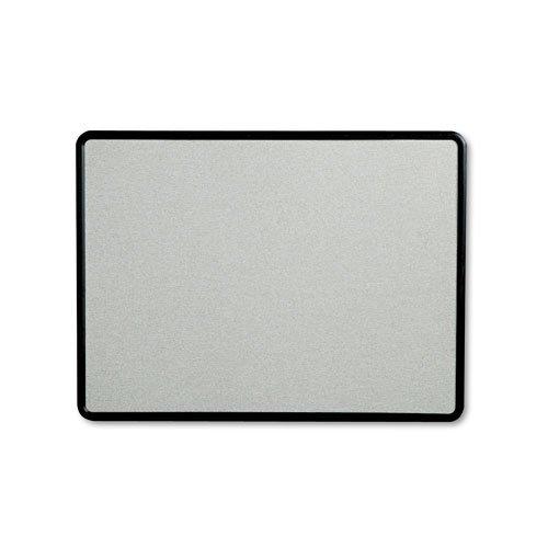 Quartet - Contour Fabric Bulletin Board, 48 x 36, Gray, Plastic Graphite Frame 7694G (DMi EA - Gray Plastic Graphite Frame
