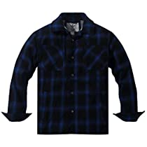WenVen Mens Long Sleeve Fleece Lined Button Down Plaid Flannel Jacket