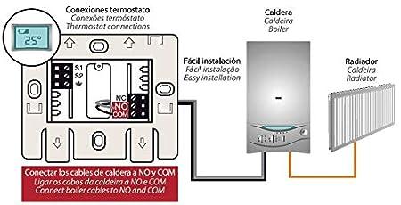 Garza 400606 Crono termostato Digital programable, Blanco