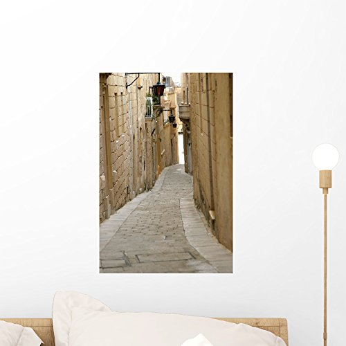Wallmonkeys Mdina Street Malta Wall Mural Peel and Stick Graphic (18 in H x 12 in W) WM290316