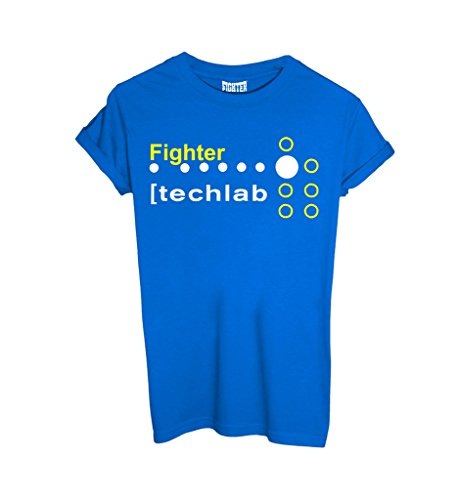 T-Shirt FIGHTER MOD 08 - SPORT by Fighter - Uomo-XL-Blu Royal