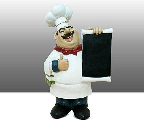Fat Chef Kitchen Chalkboard Chalk Board Table Top Art Statue Thumbs Up 64127
