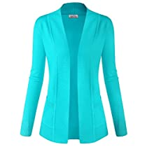 BIADANI Women Classic Soft Long Sleeve Open Front Cardigan Sweater