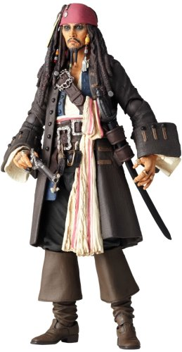 Set Action Poseable Figure - Pirates of the Carribean Revoltech SciFi Super Poseable Action Figure Jack Sparrow by Kaiyodo Jap.