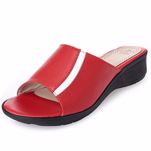 Sandalette-DEDE Señoras Zapatillas, Zapatillas, Zapatillas, Zapatillas, pies, Zapatillas, Cómodas Zapatillas. gules