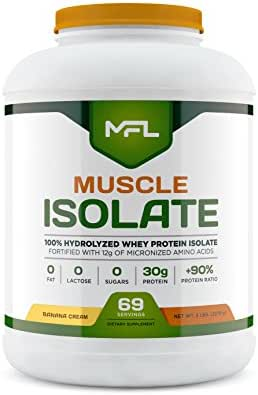 Muscle Food Labs Muscle Isolate, 5 pounds (Banana Cream)