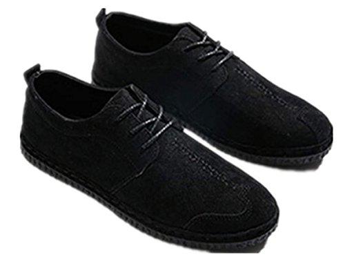 particolare di in Bebete5858 46 Mocassini in le grandi scarpe Nero taglia di grande formato uomo casual allacciano dimensioni da pelle tYYqcW0