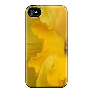 linJUN FENGAbrahamcc Iphone 4/4s Well-designed Hard Case Cover Rain Kissed Daffodil Protector