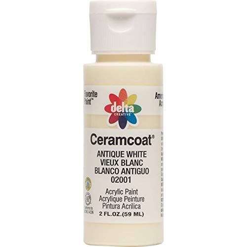 Delta Creative Ceramcoat Acrylic Paint in Assorted Colors (2 oz), 2001, Antique White