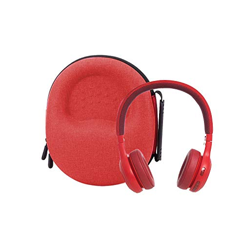 Hard Storage Case for JBL E45BT/E55BT On-Ear Wireless Headphones by Aenllosi (red)