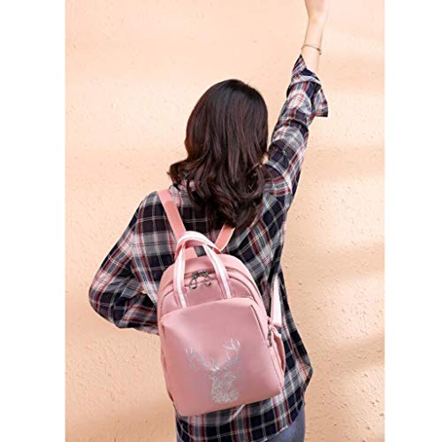Mochila Tamaño Mujer Bolsa Pequeña Informal Capacidad Salvaje Pink De Moda Ciervos Oxford Qxjpz Lienzo Computadora Para Gran Gray color Totem 24x10x32cm qpxnEdqgwU