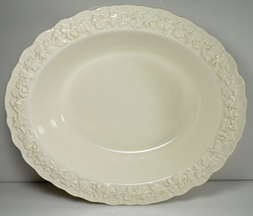 Wedgwood Cream Color on Cream Color Shell Edge Oval Vegetable Bowl 9 5/8