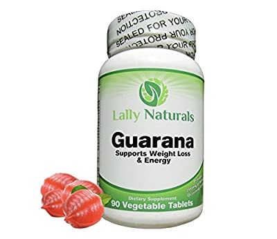 Pure Guarana Seed Extract 1000 mg - Amazon Rainforest Increases Stamina Natural Caffeine Helps You Stay Alert Increase Stamina - Weight Loss - 90 Vegetable Tablets