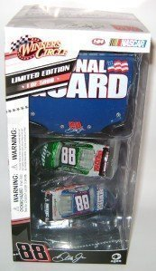 (Dale Earnhardt Jr #88 Chevy Impala SS Iridescent 2 Car AMP & National Guard 1/64 Scale Set & 1/24 Scale National Guard Hood Winners Circle Limited Edition 5000 Sets Produced Only 100 Per State!)
