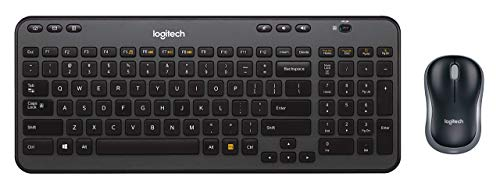 Logitech Wireless Combo MK360 - Includes Keyboard with 12 Programmable Keys and Wireless Mouse, Compact Package Perfect for Travel, 3-Year Battery Life (Renewed)