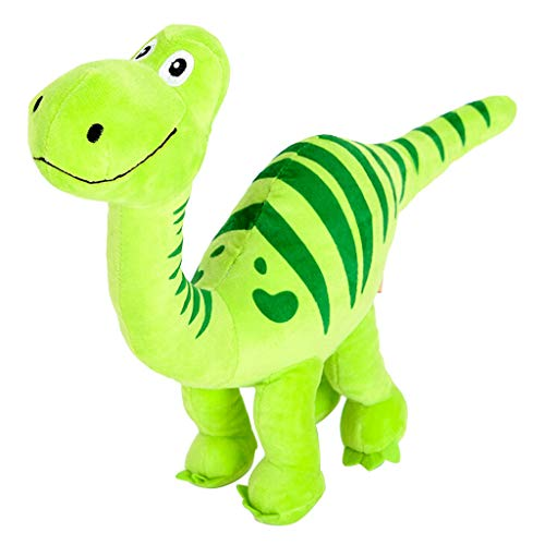(Naiflowers Plush Squeak Pet Puppy Dog Chew Toy, Large Plush Dog Dinosaur Toy Cleaning Tooth Biting Training Playing Toys for Small and Medium Dogs Puppies (Green))