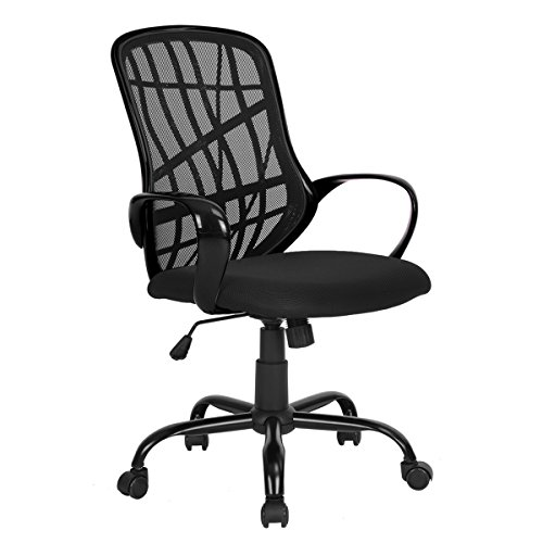 GreenForest Office Chair for Computer Desk Mesh Mid-Back Swivel Task Chair with Special Design Back,Black by GreenForest