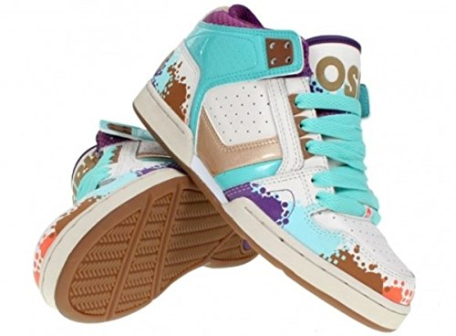 Osiris Skateboard Shoes --South Bronx Girls- Tan/Multi/Ellis