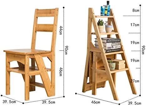 LY-Escalera 4 pasos General Perfil taburete plegable multifuncional Nanzhu sólido de los niños de madera de heces Silla taburete Bastidores: Amazon.es: Bricolaje y herramientas