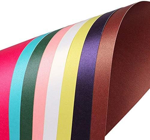 Supvox 20 Stück Schimmerpapier Metallic-Kartonpapier farbig sortiert Perlglanzpapier für Kunsthandwerk Geschenkverpackung (10 Farben gemischt)