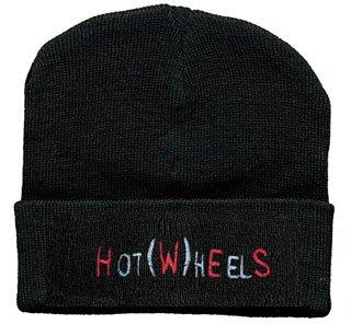 Hip-Hop Mütze mit Einstickung -Hot (W)heels- (51047) Wollmütze Wintermütze Skimütze Strickmütze