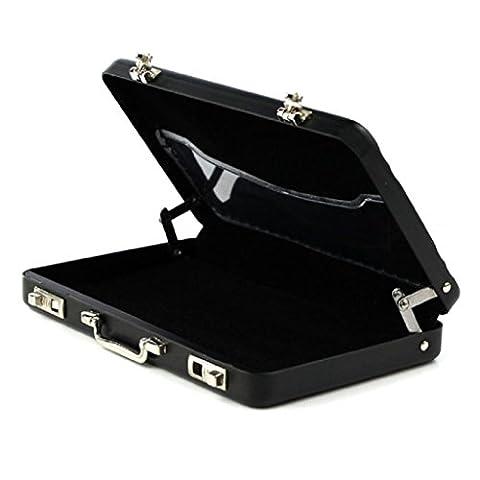 Tootu Metal Mini Suitcase Business Bank Card Name Card Holder Case Box Black