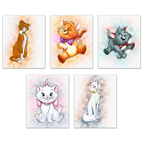 Disney Aristocats Prints - Set of Five 8x10 Adorable Cat Photos