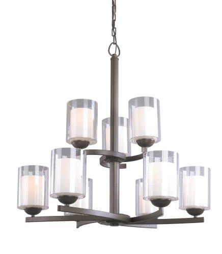 Woodbridge Lighting 12187-BRZ 9-Light Cosmo Chandelier, Bronze -