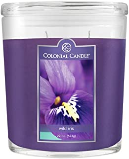 product image for Colonial Candle 22-Ounce Scented Oval Jar Candle, Wild Iris