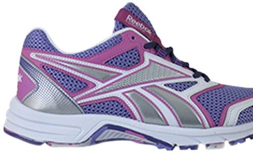 REEBOK - PHEEHAN RUN 2.0 TX - V62164 - Chaussures d'athlétisme - Femme - Taille: 40.5 - Violet / Rose / Blanc / Argenté