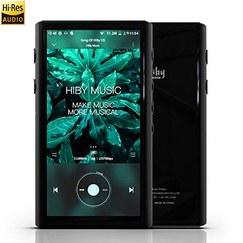 HiBy R5 Hi-Res Audio Player, High Resolution Lossless MP3 / MP4 Music Player with HiFi Bluetooth/aptX HD/LDAC/USB DAC/UAT/Android 8.1 / FM Radio/E-Book,Support WiFi with Full Touch Screen (Best Android Portable Music Player)