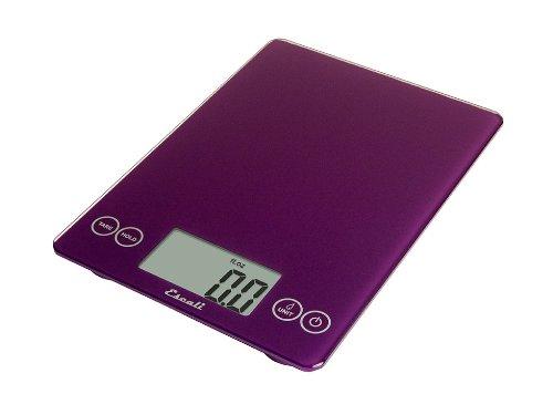 Escali 157DP Arti Glass Digital Kitchen Scale 15Lb/7Kg, Deep Purple