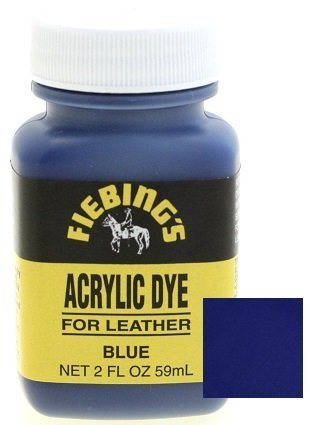 - Fiebings Acrylic Dye For Smooth Leather Water Resistant Quick Dry Blue
