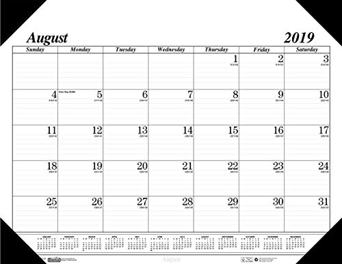 House of Doolittle 2019-2020 Monthly Desk Pad Calendar, Academic, 17 Month, 22 x 17 Inches, August - December -