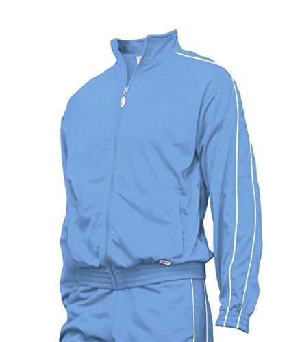 Soffe Warm-Up Jacket, Columbia Blue, Youth Medium