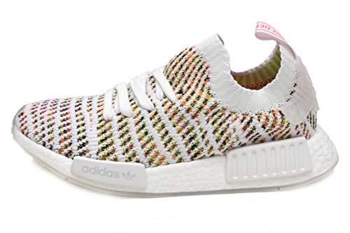 promo code 53462 b1e20 adidas Originals NMD_R1 STLT Primeknit Shoe Women's Casual 9 White-Semi  Solar Yellow-Pink
