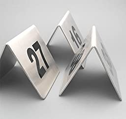Bent Style Double Side Table Number Table Tent Card Place Cards for Hotel&wedding Reception with Matte Surface Set of Numbers 1 to 20
