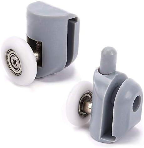 Puerta de ducha rodillos ruedas ruedas para puerta de ducha ruleta rueda puerta ducha 4 x alto y 4 x bajo sala de baño 25 mm 8 piezas: Amazon.es: Bricolaje y herramientas