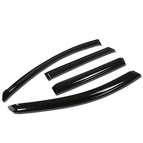 Nissan Rogue 4pcs Window Vent Visor Deflector Rain Guard (Dark Smoke) (2014 Nissan Rogue Window Guards compare prices)