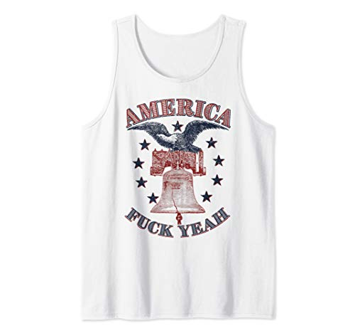 Eagle 1776 - America Fuck Yeah Bald Eagle Liberty Bell 1776 4th of July  Tank Top