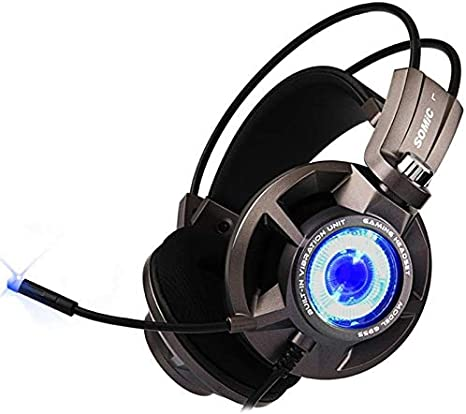 Color : Black, Size : M Gaming Headset Headset for Professional Computer Players Virtual 7.1 Surround Sound USB Game Headphones with Noise canceling Microphone