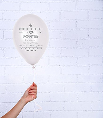 Will you be my Bridesmaid Invitation Balloon with silver glitter (Bridesmaid Balloon)