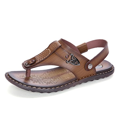 xing lin uomo sandali estivi da uomo Youth dual-use pantofole Trend sport sandali estate spiaggia scarpe anti-skid Wear Small code 38 Khaki Tienda De Oferta Barata En Línea Venta Al Por Mayor Precio ueYsAzYP