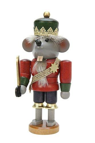 German Christmas Nutcracker Mouse King glazed - 17cm / 7 inch - Christian Ulbricht by ISDD