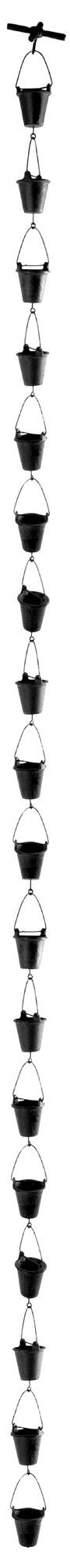 NACH (NACHB) XH-90-4580 Cast Iron Bucket Rain Chain, Rust