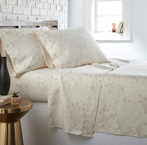 - Southshore Fine Living, Inc. The Vilano Choice Collection Sheet Sets, Soft Floral Perfect Cream, Queen