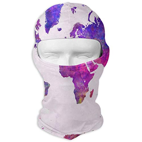 Vintage World Map Outdoor Tactical Training Full Face Mask - Windproof Sun Protection Hood Balaclava Motorcycle Helmet Anti-Scratch Inner Lining for Skiing/Cycling/Motorcycle/Fishing/Hunting White (Vintage Full Face Motorcycle Helmets For Sale)
