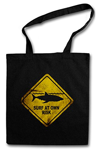 SHARK WARNING SIGN HIPSTER BAG – Lo bianco Pescecane Squalo avviso avvertimento segnale di pericolo Surfer Surfing Diver Australia Maui Jaws Tiger White Killer Logo Hawaii