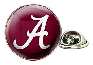 University Of Alabama Crimson Tide Domed Tie Tack / Lapel Pin with NCAA College Sports Team Logo