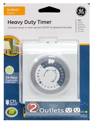 Jasco Products 15075 Heavy-Duty Two-Outlet Timer